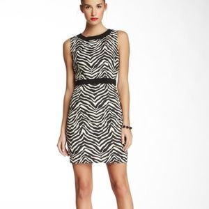 Trina Turk Foxe Zebra Print Woven Sheath Dress